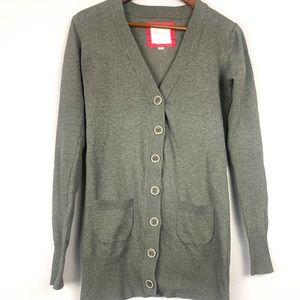 2 for 25 blue notes long cardigan grey size M